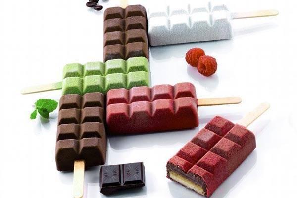 Silikonová forma na nanuky – 2 kusy čokoláda - Silikomart