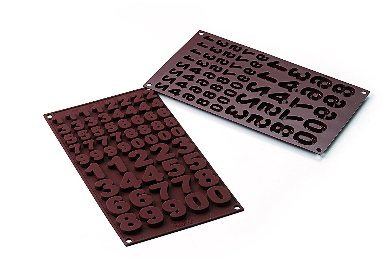 Silikonová forma na čokoládu čísla - Silikomart