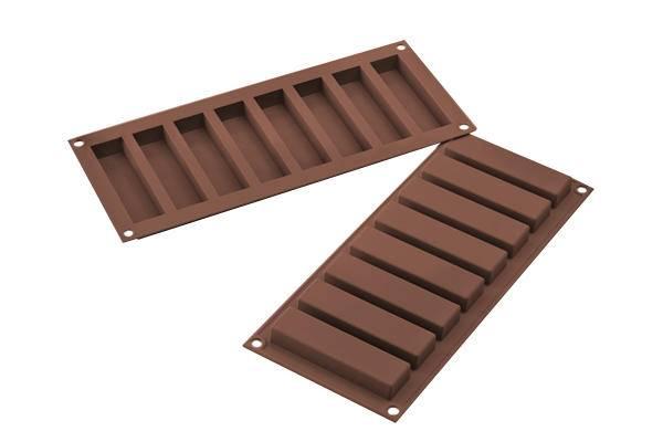 Silikonová forma na domácí čokoládové tyčinky - Silikomart