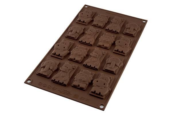Silikonová forma na čokoládu zvířátka safari - Silikomart