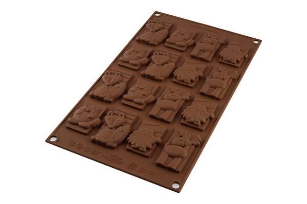 Silikonová forma na čokoládu zvířátka winter - Silikomart