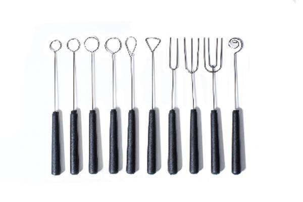 Vidličky pro výrobu čokoládových bonbonů 10ks - Silikomart