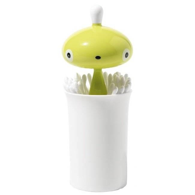 Zásobník na vatové tyčinky Pisellino zelený - Alessi