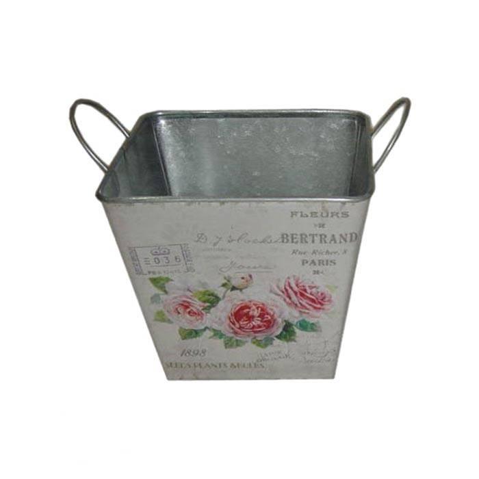 Plechový květináč Růže, malý - Morex