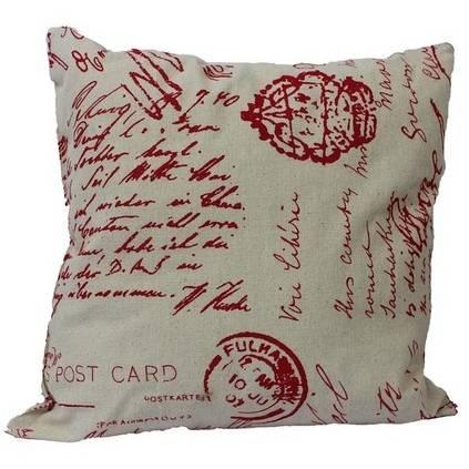 Dekorační polštář Dopis, červený - Morex