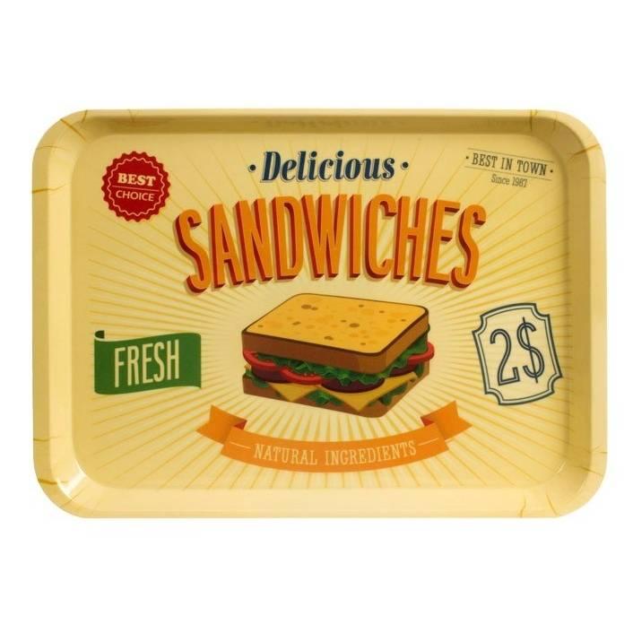 Melaminový podnos Sandwiches 45 x 32 cm - Balvi