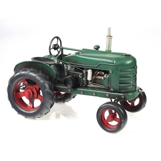 Plechový zelený traktor 25 cm - Interservis