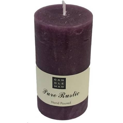 Svíčka válec, fialová, 13 cm - Morex