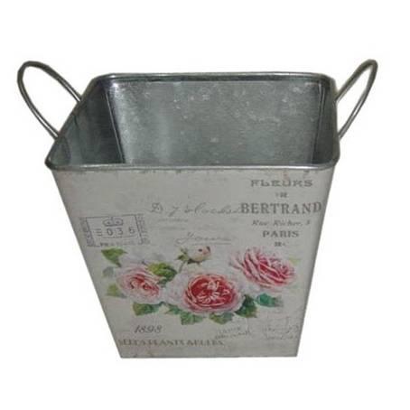 Plechový květináč Růže, velký - Morex