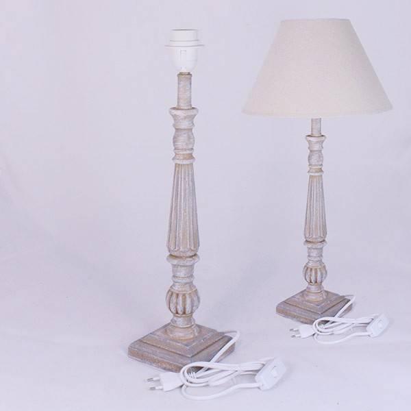 Noha ke stolní lampě E27 s čtvercovým podstavcem - Dakls