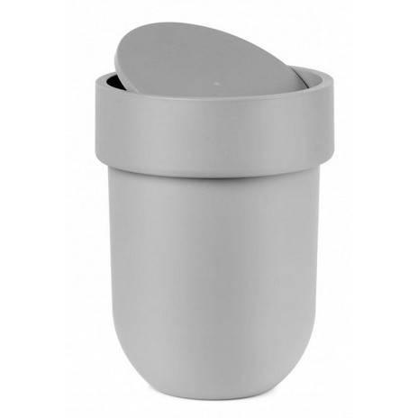 Odpadkový košík Touch s víkem, šedý - Umbra