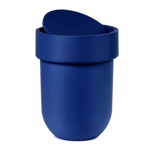 Odpadkový košík Touch s víkem, tmavě modrý - Umbra