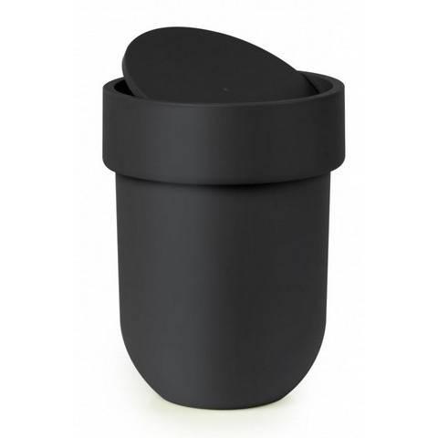 Odpadkový košík Touch s víkem, černý - Umbra