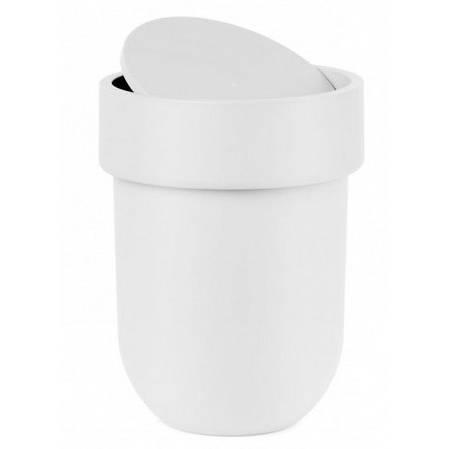 Odpadkový košík Touch s víkem, bílý - Umbra
