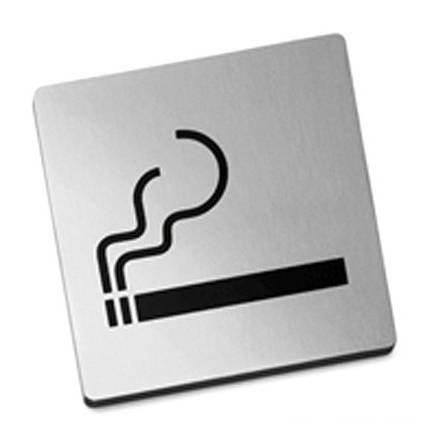 Nerezová samolepící tabulka, Kouření povoleno - Zack