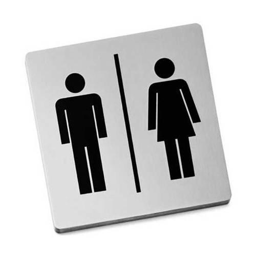 Nerezová samolepící tabulka, Muž a žena - Zack