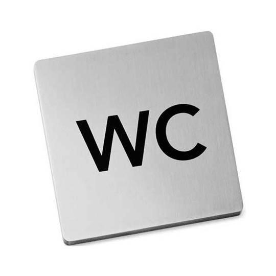 Nerezová samolepící tabulka, WC - Zack