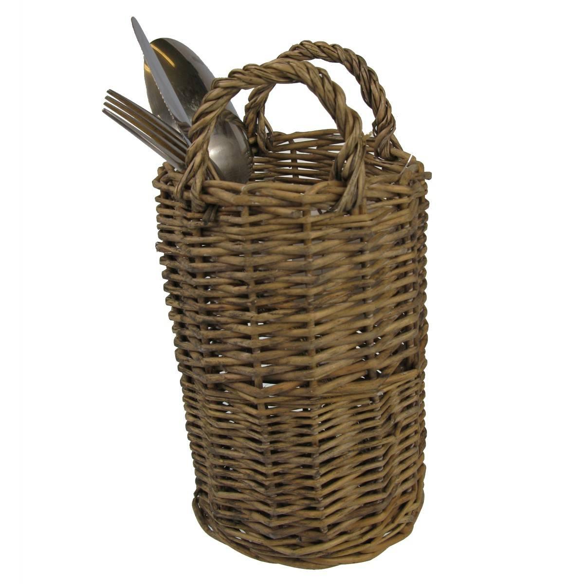 Proutěný košík na příbory - Dakls