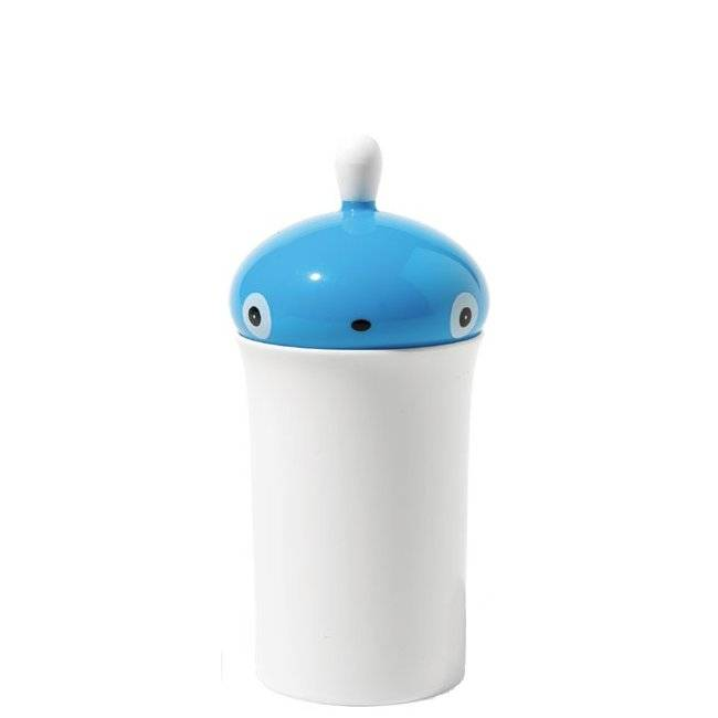 Zásobník na vatové tyčinky Pisellino modrý - Alessi