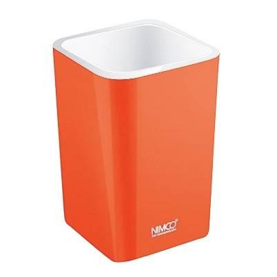Fotografie Nimco pohárek na kartáčky Eli, oranžový - NIMCO