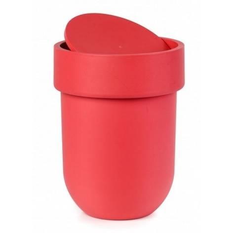 Odpadkový košík Touch s víkem, červený - Umbra