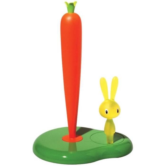 Stojan na papírové utěrky Bunny & Carrot zelený - Alessi