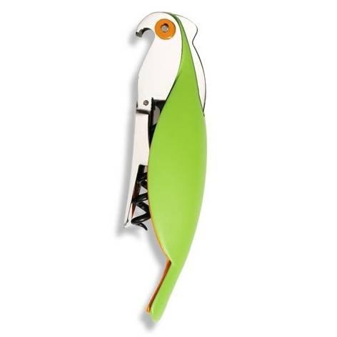 Vývrtka Parrot zelená - Alessi