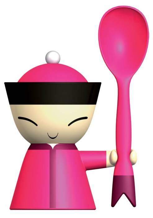 Miska na vajíčko Mr. Chin růžová - Alessi