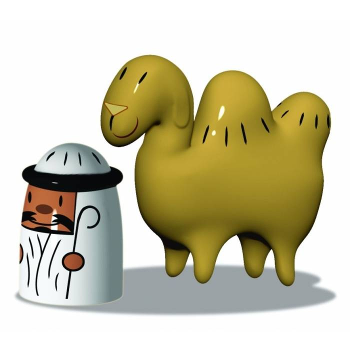 Porcelánové figurky k betlému: Amir & Camelus - Alessi