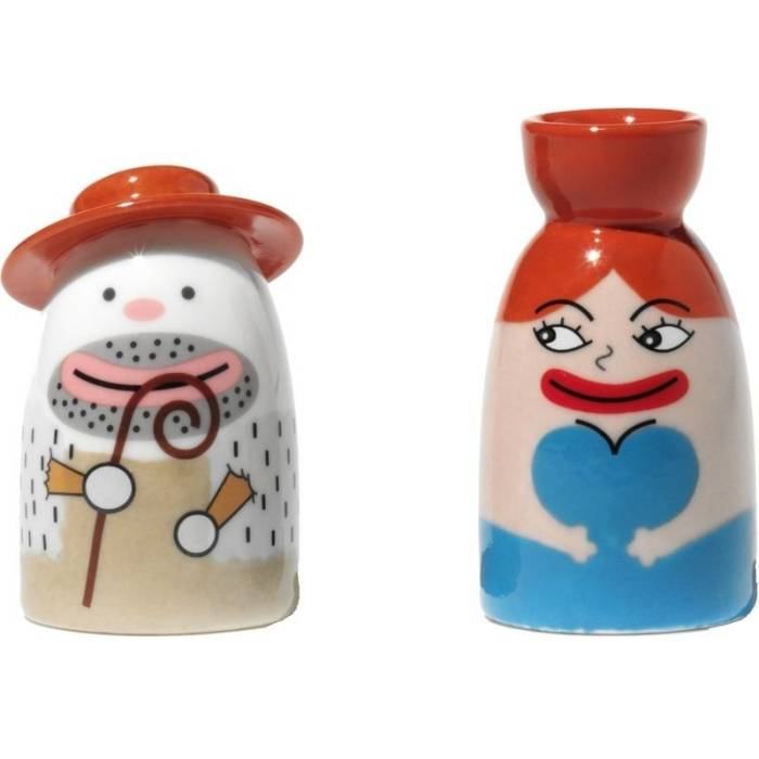 Porcelánové figurky k betlému: La Signora Acqua - Alessi