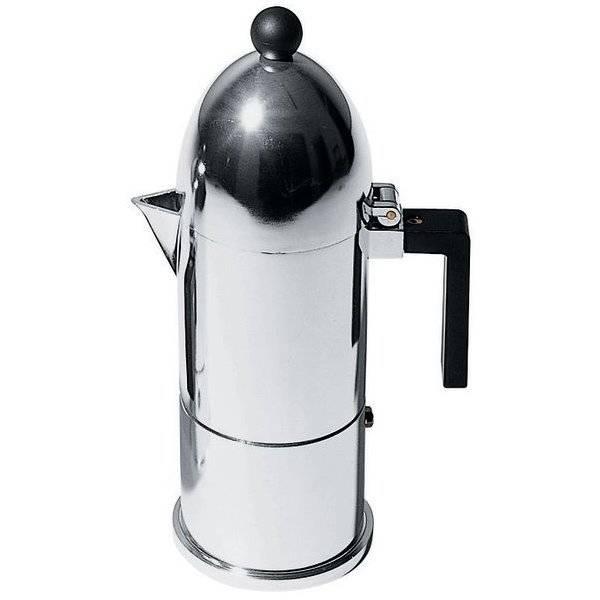 Kávovar La Cupola černý na 3 šálky - Alessi