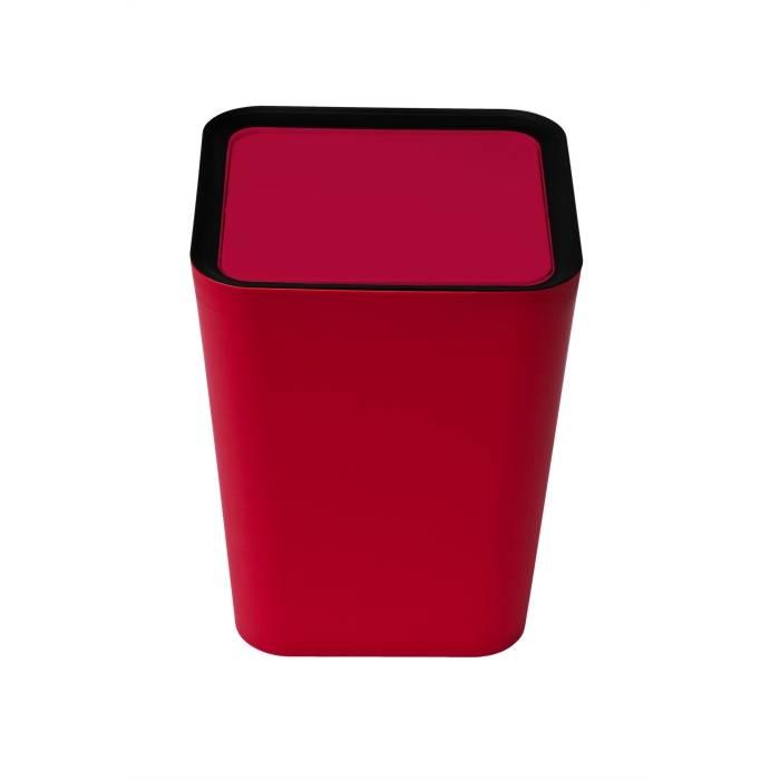 Odpadkový koš Square Flip Bin, červený - QUALY