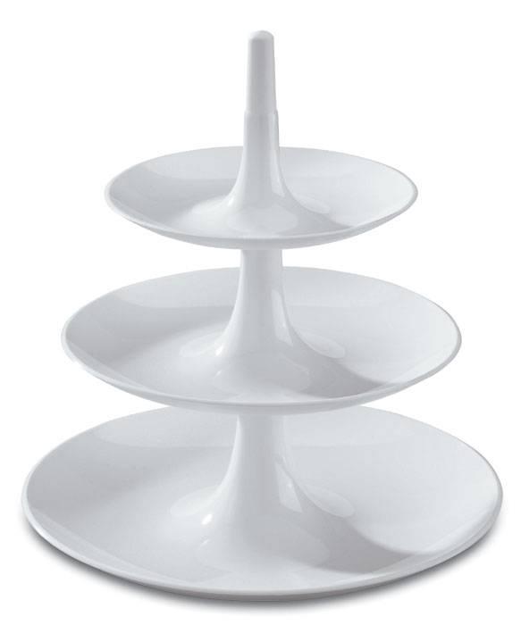 Třípatrový etažér BABELL bílý - Koziol