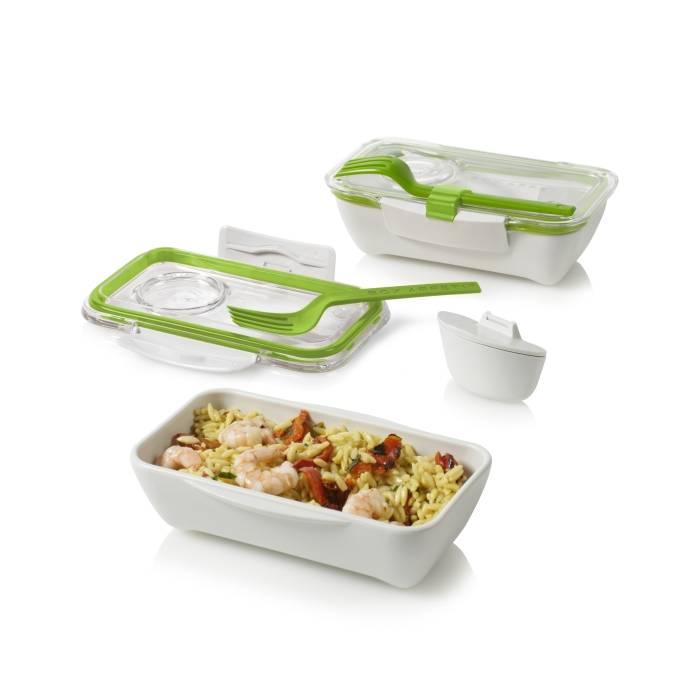 BLACK-BLUM Lunch box Bento 500ml bílý/zelený