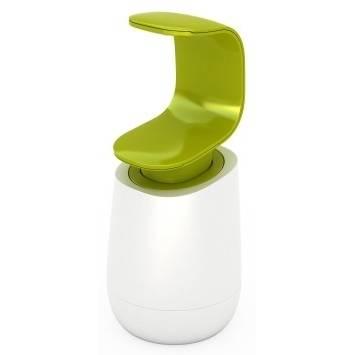 Dávkovač na mýdlo/saponát C-pump, bílý/zelený - Joseph Joseph