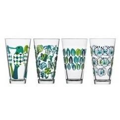 Sada 4 sklenic Fantazie, zelené/modré - Sagaform
