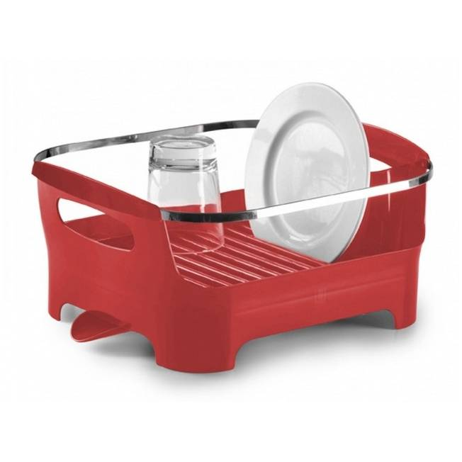 Odkapávač na nádobí Basin, červený - Umbra