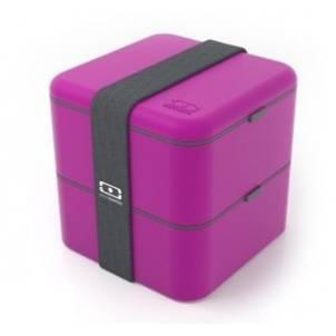 Monbento velký svačinový box duo, fialový - Monbento