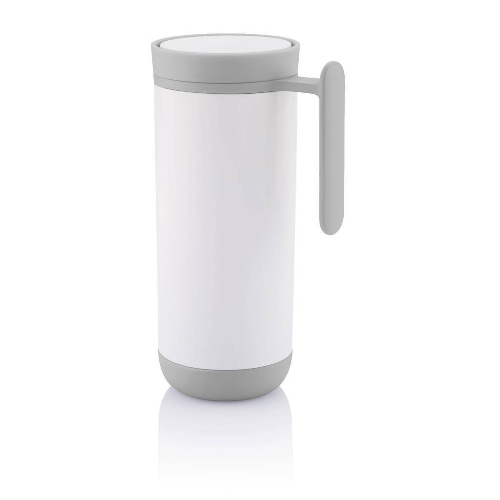 Termohrnek Clik 225 ml s madlem, bílý - XD Design