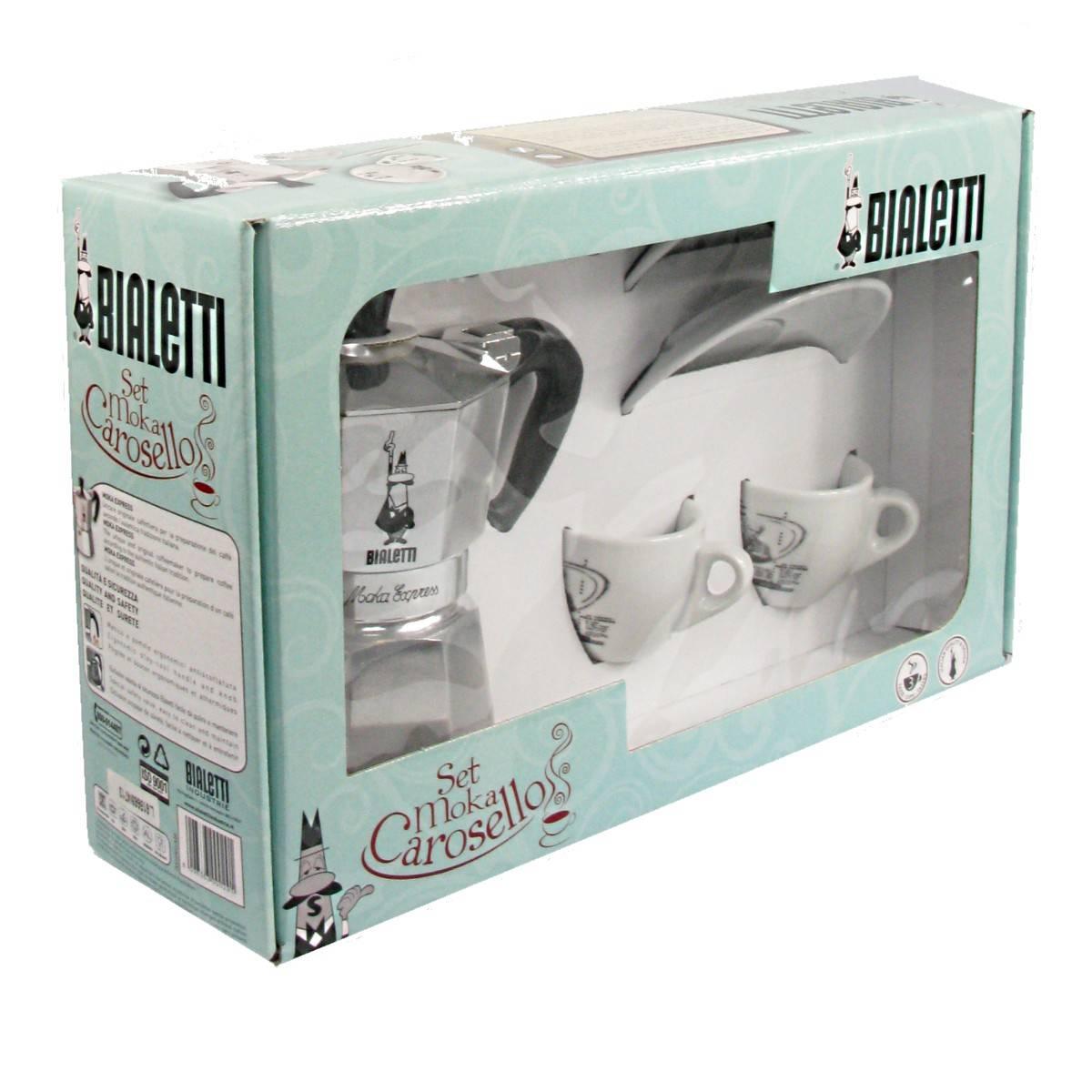 Bialetti dárková sada Carosello: Moka Express + 2 šálky na kávu - Bialetti + dárek k nákupu