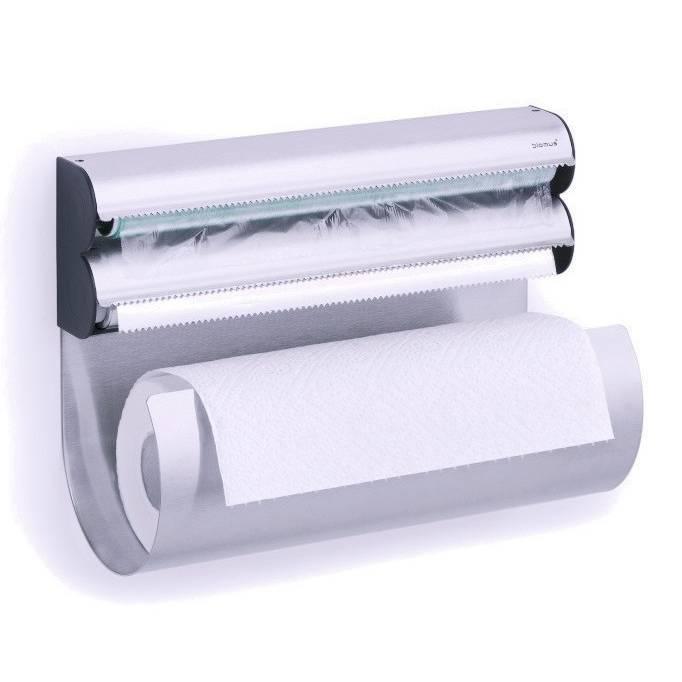Nástěnný držák na alobal, potravinovou fólii a papírové utěrky OBAR - Blomus