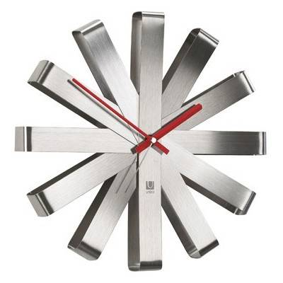Nástěnné hodiny Ribbon, nerez - Umbra