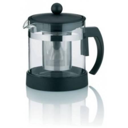 Skleněná čajová konvice černá Auron 1l - Kela