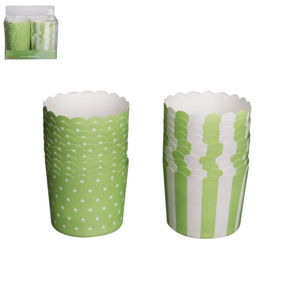 Orion Papírové cukrářské košíčky Green 20ks 7 cm