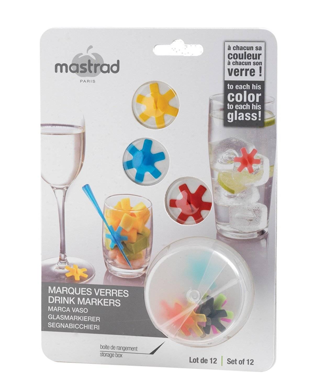 Sada barevných držáků na skleničku - Mastrad