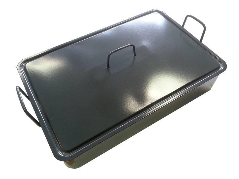 Smaltovaný pekáč s poklicí 50x30x12cm - Czech gastro profi