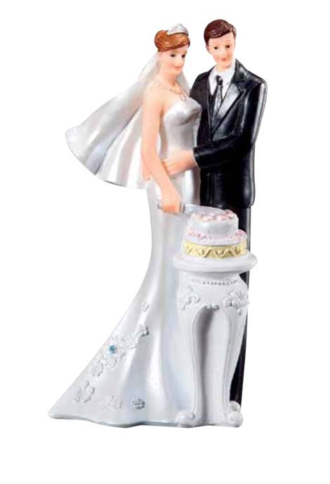 Svatební figurka na dort ženich a nevěsta - Florensuc