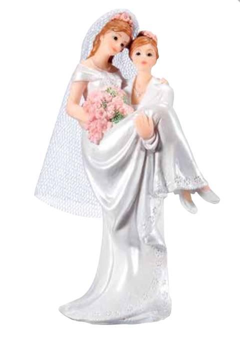 Svatební figurka na dort ona a ona - Florensuc