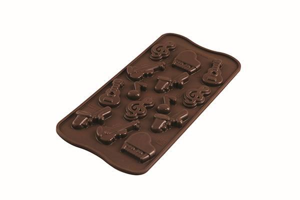 Silikonová forma na čokoládu hudební nástroje - Silikomart