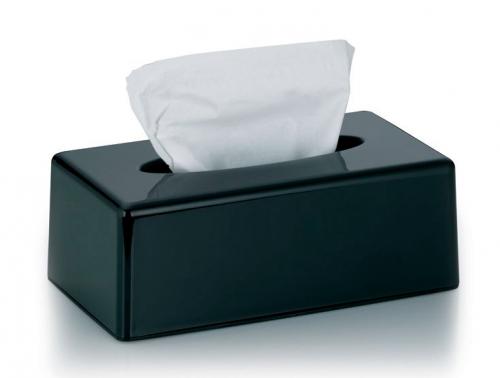 Kosmetický box na kapesníky Panno plastový černý KL-22346 - Kela